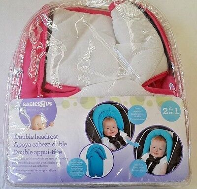 Babies R Us Baby Double Headrest Carseat Carrier Stroller Pink Newborn & Infant