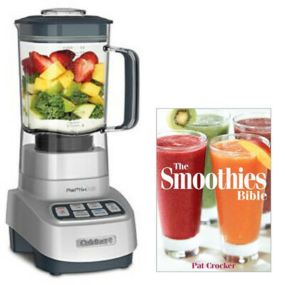Cuisinart Heavy Duty Blender w/ Programmed Ice Crush + Smoothie Recipe Book