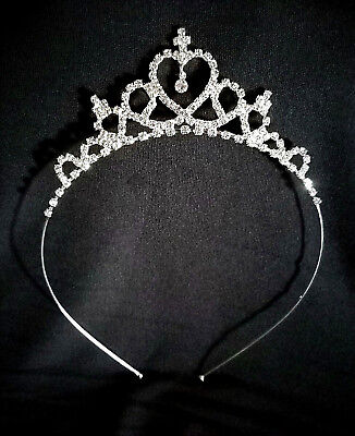 Regal Crystal Tiera Headband For Brides ~Flower Girl~Mardi Gras ~Proms & More!