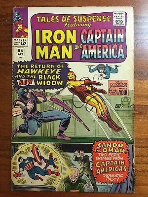 Tales of Suspense #64 Hawkeye and Black Widow VF-