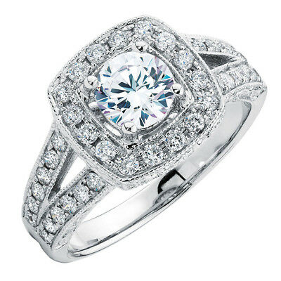 Michael Hill 1.45ct- Solitaire w/ Halo Diamond Engagement Ring F SI2 RRP $10,999