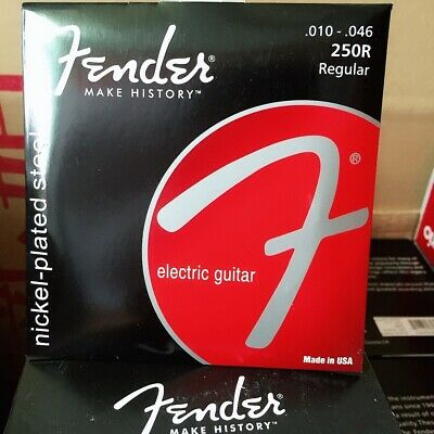 1 Pack Fender Electric Guitar Strings 250R Set 10-46 Nickel-plated Steel Strings