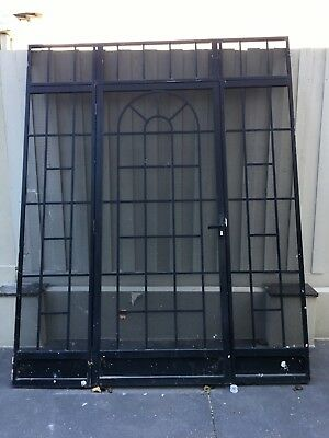 French Style Stainless Steel Metal Black Security Screen Front Door Arch & Lock