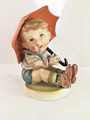 Goebel Hummel Boy With Umbrella Vintage Figurine