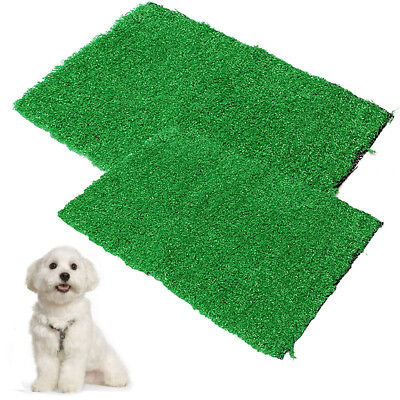 Pet Potty Tray Indoor Dog Cat Grass Mat Puppy Training Pad Toilet Loo Urine