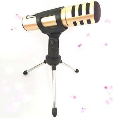 1* Home Adjustable Metal Desk Top Mic Microphone Clamp Clip Holder Stand Tripod
