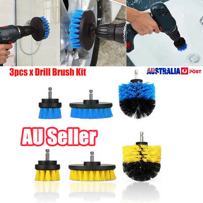 3Pcs/Set Tile Grout Power Scrubber Cleaning Tools Drill Brush Tub Cleaner Combo