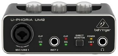 BEHRINGER U-PHORIA UM2 USB Audio Interface Musical Instruments Preamp