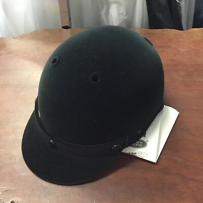 Aussie Rider Felt Horse Riding Helmet, Black, Size LARGE  *NEW WITH TAGS*