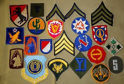 21 Pieces US Military Patches - WWII, Korea and Vietnam to Present, Fantastic