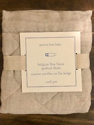 Pottery Barn Kids Belgian Flax Linen Diamond Quilting Baby Nursery Sham, Natural