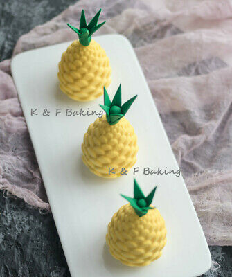 8 X Ananas Obst Silikonform Pinienkern Puddingform 3D Mousse Kuchenform Backform