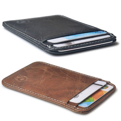 2 Colors 6 Layers Slim Credit Card Holder Women Men Mini Wallet ID Case Fashion