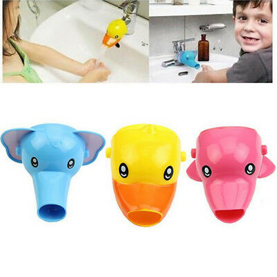 Faucet Extender Sink Handle Extension Toddler Kid Bathroom Children Hand Wash US