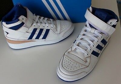 buy popular f29f9 f68ef Adidas Originals Forum Mid Wrap High Top Sneakers White Collegiate Royal  US-9