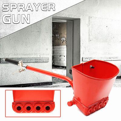 30'' Wall Plastering Sprayer Gun Stucco Shovel Hopper Ladle Cement Spray Gun Air