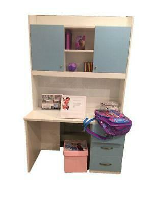 New Hutch Shelves Storage Study Table Office Home Student Kids Furniture