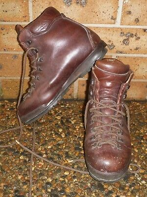 Scarpa Asolo Mens Walking Boots Trekking Boots Hiking Boots Brown Leather 43 Eu