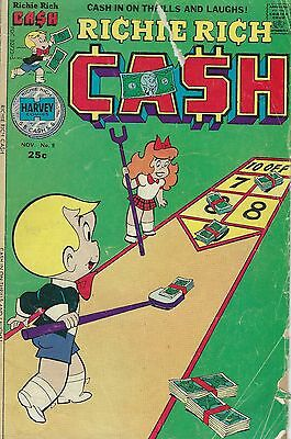 Harvey World Comic Book Richie Rich The Poor Little Rich Boy Cash November #8