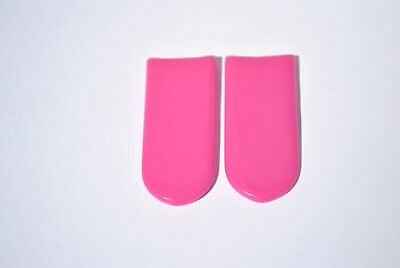 1 PAIR - Pink - Rubber Grips for Finger Grip Whistle