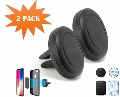 Magnetic Car Mount Air Vent Stand GPS Cell Phone Holder iPhone X 8 7 Plus 2 Pack