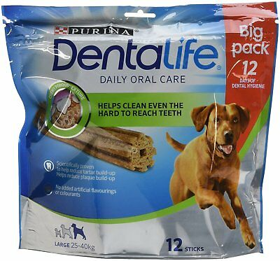 DENTALIFE Large Dog Dental Chew 12 x 35 g Pack Of 3 Free And Fast Delivery New