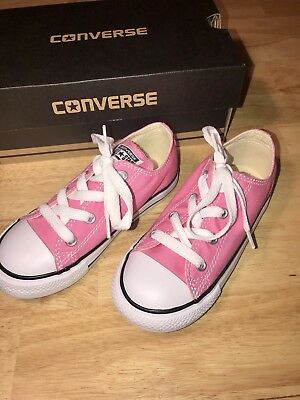 42d562c426e2 NEW! ~GIRLS CONVERSE SHOES Size 10 In PINK Brand New With Box Size ...