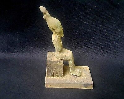 Rare Ancient Egypt Egyptian antique  BRONZE STATUE  OSIRIS  (600-1000 BC