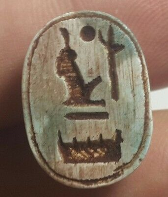 Rare Ancient Egypt Egyptian antique   ‎Scarab a New Kingdom (1549–1069) BC