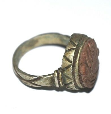ANCIENT ROMAN SILVER RING  Roman period  in Egypt (30-641) BC