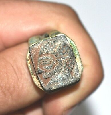 ANCIENT ROMAN Egypt Egyptian antique SILVER RING  Roman period  (30-641) BC