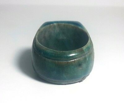 RARE ANCIENT EGYPTIAN GLASSY FAIENCE RING c New Kingdom (1549–1069) BC