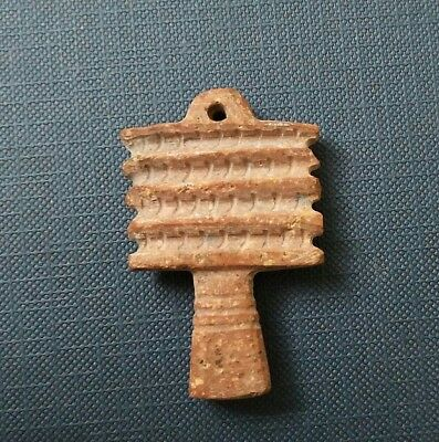 Rare Ancient Egypt Egyptian Antique  stone DJED PILLAR Amulet  (1000–600 BC