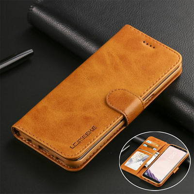 Magnetic Leather Flip Wallet Case Cover For Samsung Galaxy J6 A8 A6 S9 Plus S10