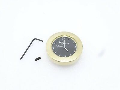 Black Dial Brass Stem Nut Clock Watch Suitable For Royal Enfield #re109