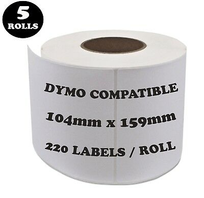 5 Rolls SD0904980 Compatible Dymo Label 0904980 Shipping Address Labels