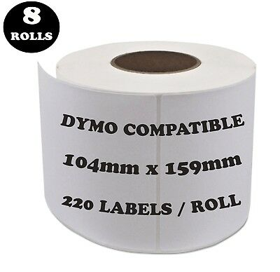 8 Rolls SD0904980 Compatible Dymo Label 0904980 Shipping Address Labels