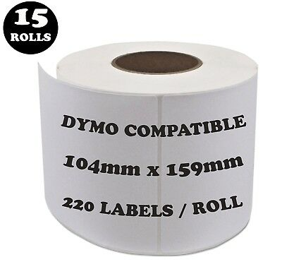 15 Rolls SD0904980 Compatible Dymo Label 0904980 Shipping Address Labels
