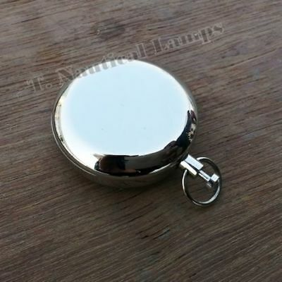Nickel Plated Brass Pocket Compass Push Button Nautical Compass Maritime Gift