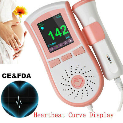 USPS New FDA Handheld Portable Doppler Fetal Doppler Baby Heart Rate 3MHz Probe