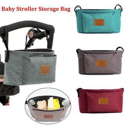 Kids Baby Stroller Pram Organiser Hanging Bag Bottle Cup Holder Accessories