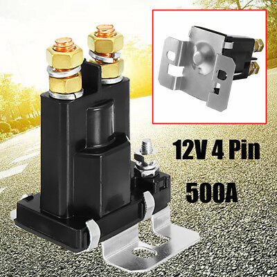 500A 12V DC 4 Pin High Current Relay Contactor On/Off Car Auto Power Switch