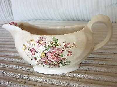 Vintage 1930's Royal Staffordshire Chelsea Rose CLARICE CLIFF Gravy Boat