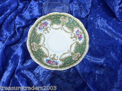 🌟 Queen Anne Regency Saucer Gorgeous Glossy Finish Exc Cond