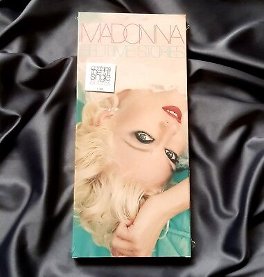 MADONNA BEDTIME STORIES SEALED LONGBOX CD w/ PROMO HYPE STICKERS LIMITED EDT