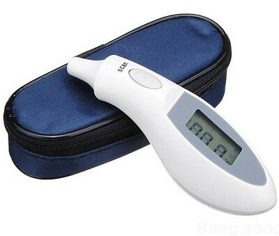 Digital LCD Ear Thermometer Medical Baby Adult Safe Temperature Oral Case V01