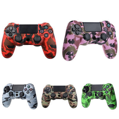Camo Silicone Rubber Skin Case Gel Cover Grip for Playstation PS4 Controller New