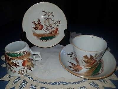 Antique Charles Allerton Cups & Saucers Luster Dated 1859-1943