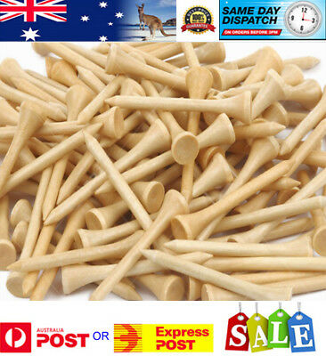 50 -  Natural Colour Wood / WOODEN GOLF TEES 54 mm - AU Stock - Fast Delivery