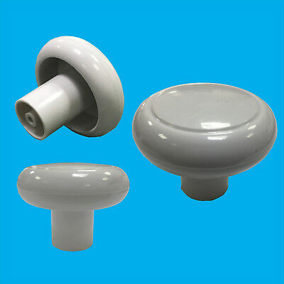 50x 49mm White Plastic Cabinet, Cupboard, Drawer Furniture Door Handle Knobs